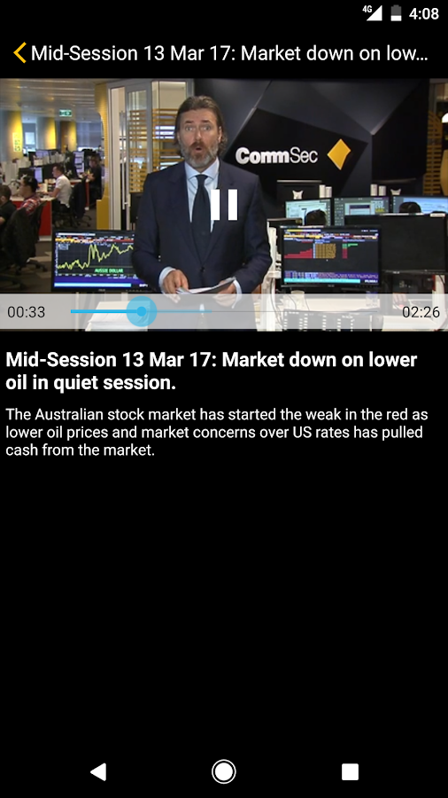 CommSec- screenshot