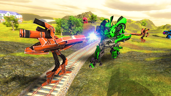 Future Subway Euro Train Transformation Robot War- screenshot thumbnail
