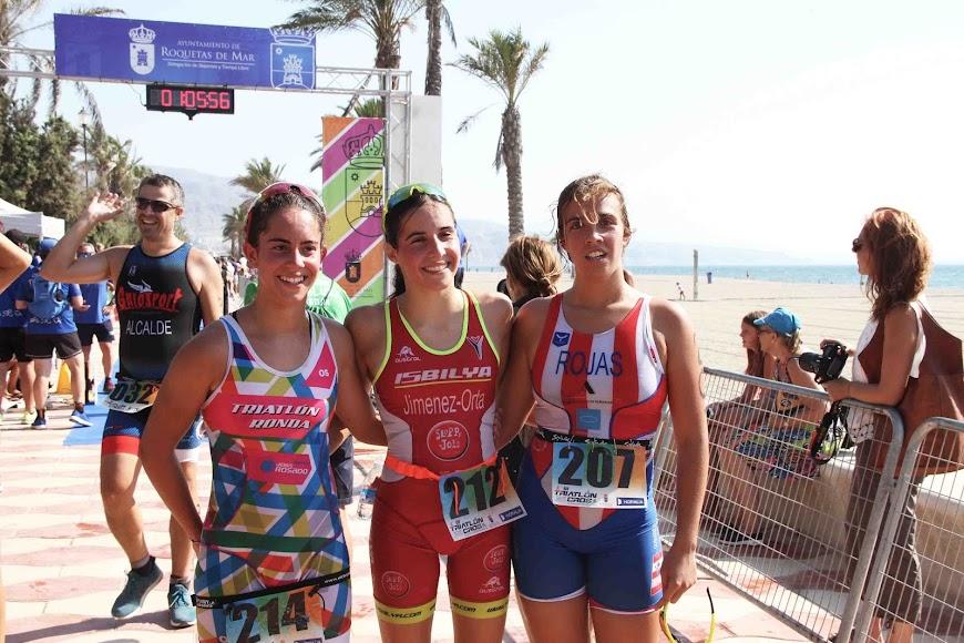 Podio femenino cadete Andalucía.