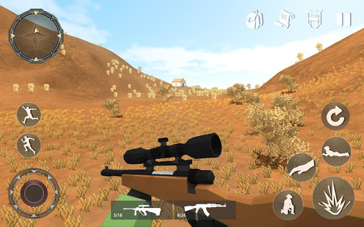 Pixel Mobile FPS Survival Battle Royale  captures d'écran 2