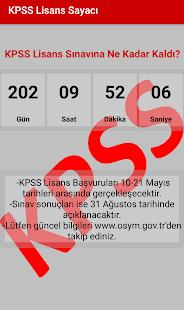 KPSS Lisans Sayacı 2018 - náhled