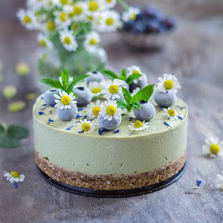 Matcha, Avocado And Lemon Cheesecake.
