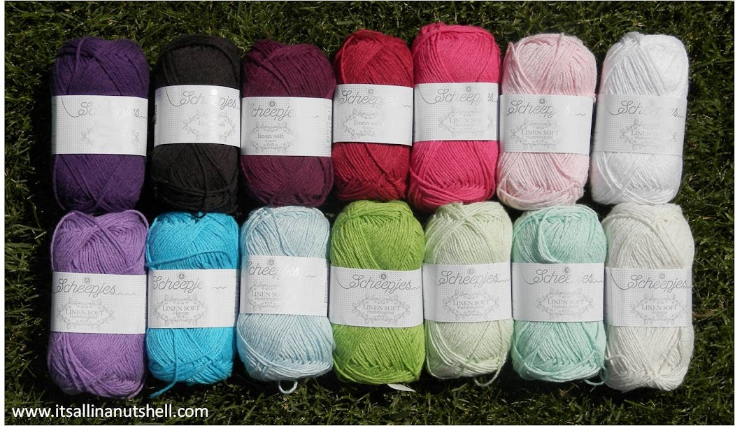 linen soft yarn for around the bases CAL