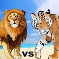 Lion Vs Tiger Wild Animal Simulator Game APK