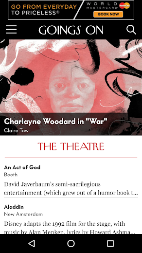 Screenshot 6 for The New Yorker's Android app'