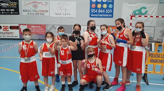 La EDM Lola Boxing logra tres medallas en el VI Campeonato de Andalucía