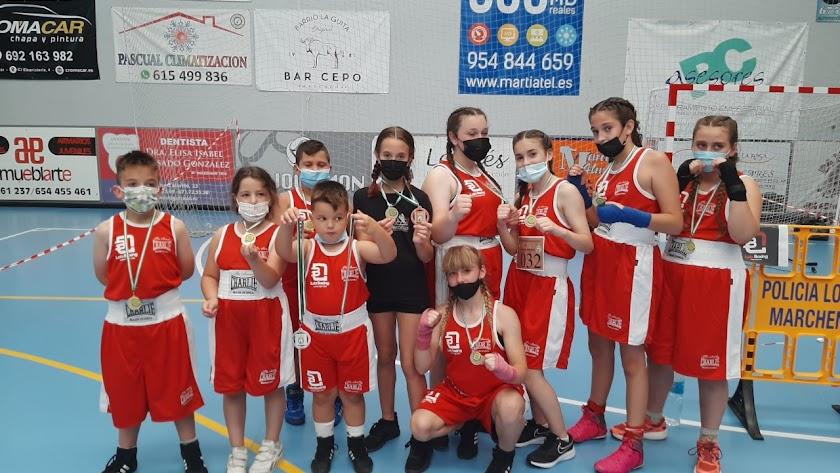 Los participantes en el torneo andaluz de Sevilla.