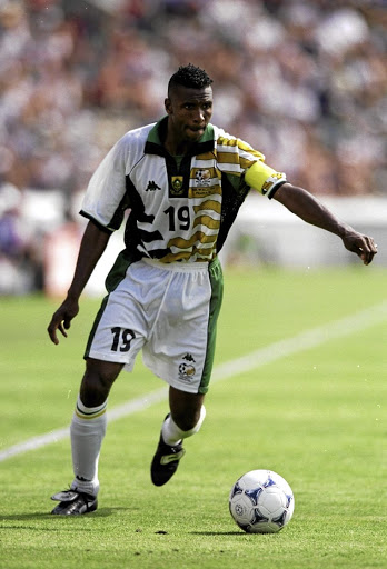 Lucas Radebe turned out for Bafana at the 1998 World Cup in France.