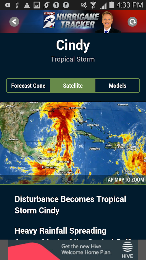 KPRC Hurricane Tracker- screenshot