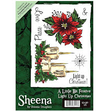 Sheena Douglass A6 Unmounted Rubber Stamp - Light Up Christmas UTGÅENDE