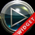 Poweramp Widget Lightblue Glas Icon