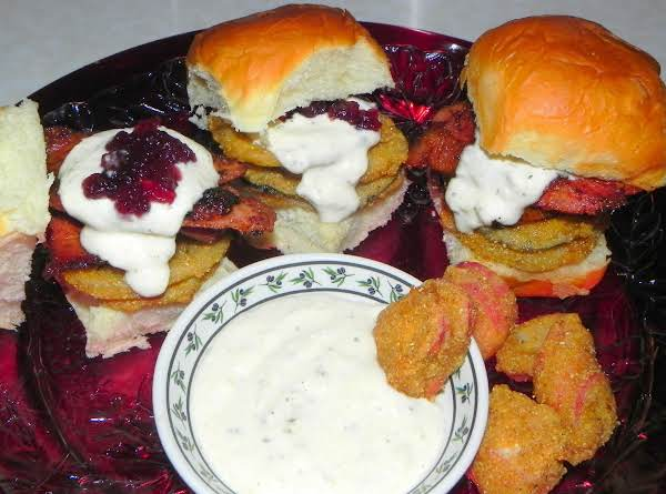 Blackened Turkey With Beer Battered Radish Sliders Recipe