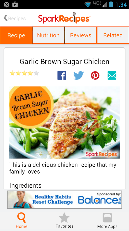 Healthy Recipes - SparkRecipes- screenshot