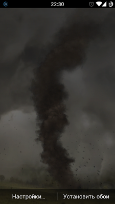 Tornado live wallpaper free - screenshot