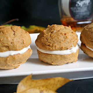 Pumpkin Whoopie Pies With Maple Cream Filling.