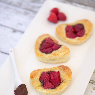 Hazelnut Chocolate Raspberry Pastries