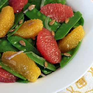Snow Pea, Grapefruit, & Orange Salad.