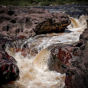 Water fall Northern MN by Michael Haagen - Landscapes Waterscapes ( falls, waterscape, waterfall, power, water, flow,  )