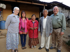 Photo: In Tening town village visitation we visited this elderly pastor who has pastored the Tening town church for many years but is now retired. His daughter (besides my wife) was one of the cooks who cooked delicious food for our MTM team.