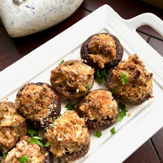 Stuffed Mushrooms with Sausage and Cream Cheese.