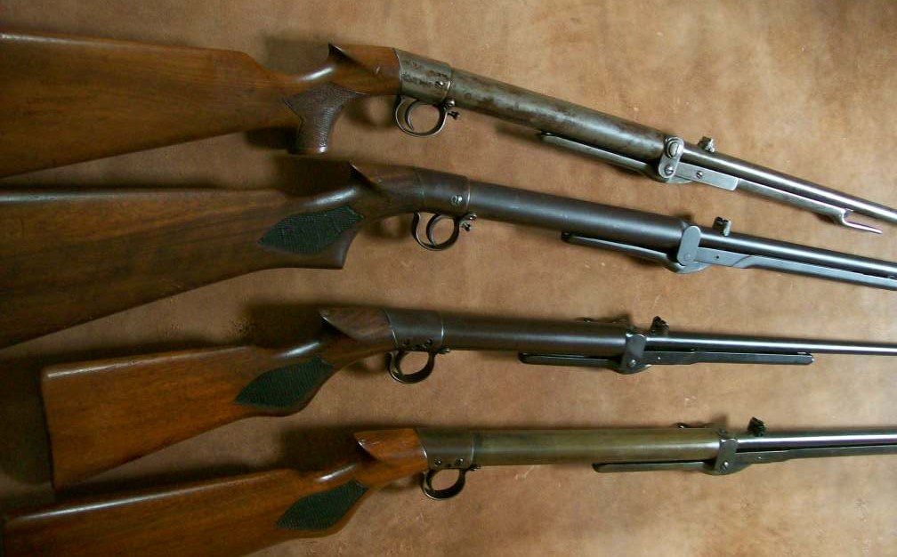 4 antique airguns