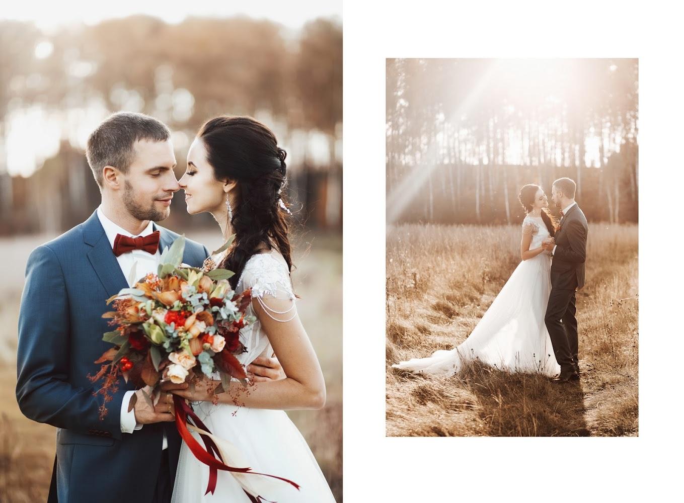 Фотосессия на природе свадебная позы