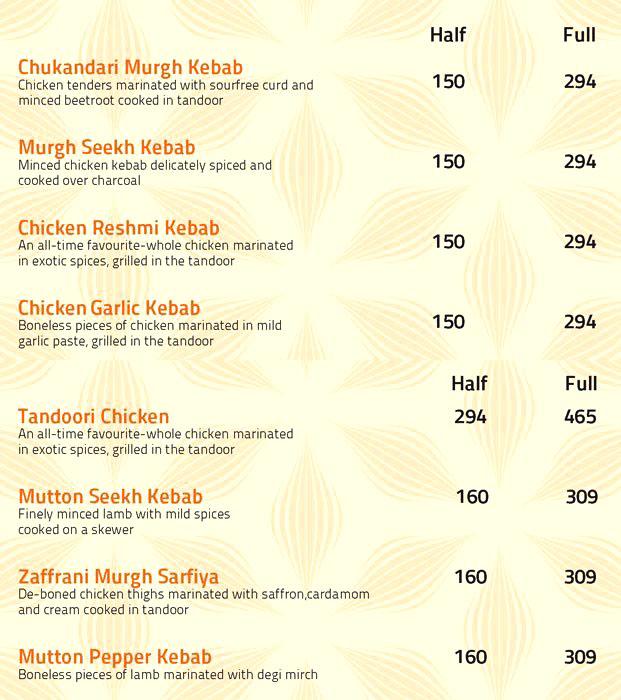 Paradise menu 7