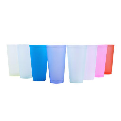vasos inoxplas plastico resistente 16oz 8 und