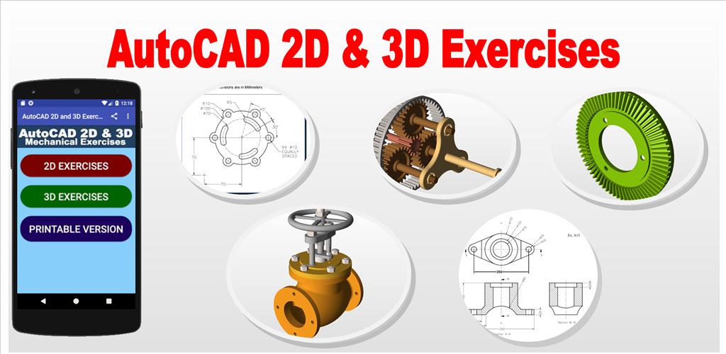 Autocad 3d exercises