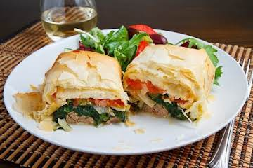 Lamb Exohiko (Lamb, Spinach and Cheese Stuffed Phyllo Parcels) Recipe
