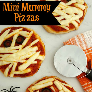 Mini Mummy Pizzas.