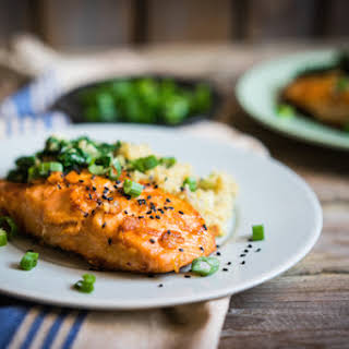Grilled Old Bay Salmon.
