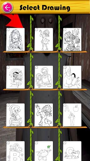Slendrina Granny Game Coloring  screenshots 3