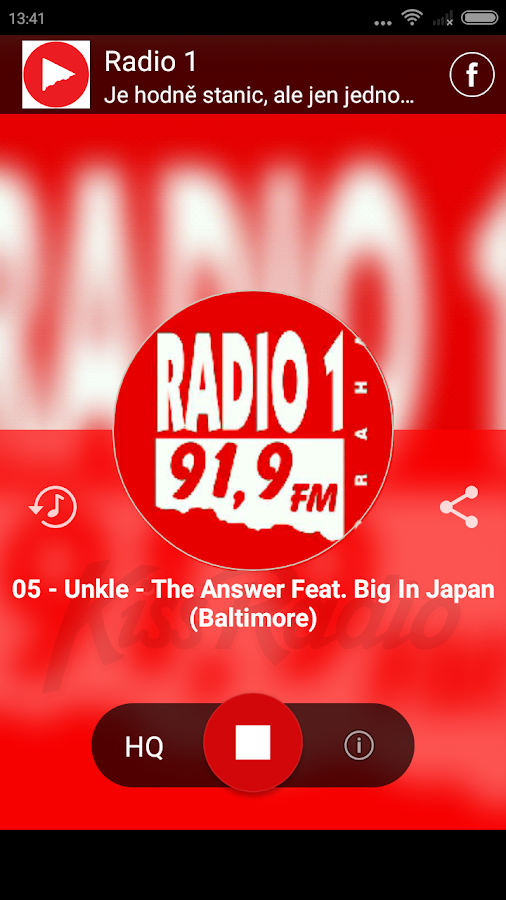 Radio 1 ‣- screenshot