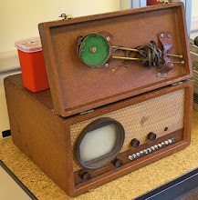 Photo: This is not a radio; it is a television. Not exactly wide screen!