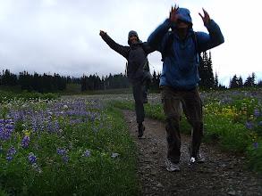 Photo: Jumping thought the meadows - Dan losing his camera