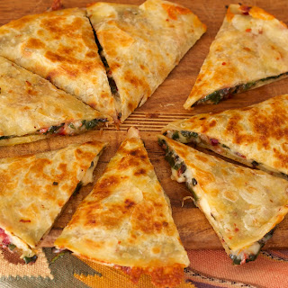 Pepper Jack and Chard Quesadillas.
