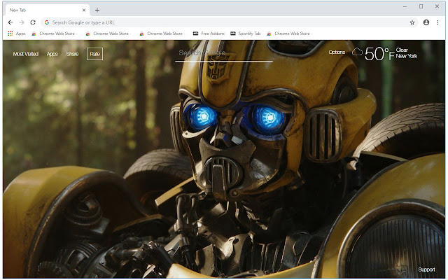 Bumblebee 2018 HD Wallpapers New Tab Themes