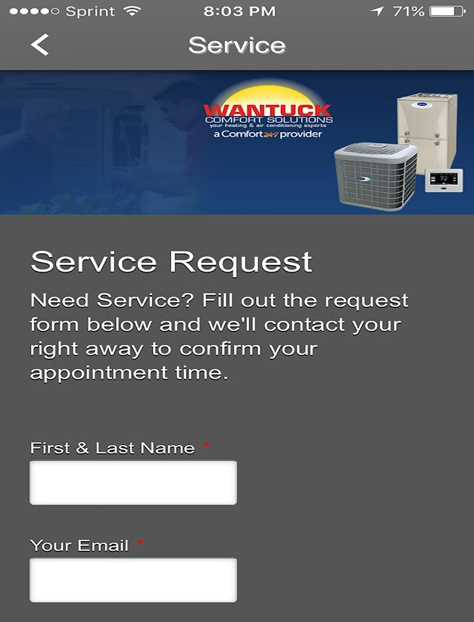 Wantuck HVAC- screenshot