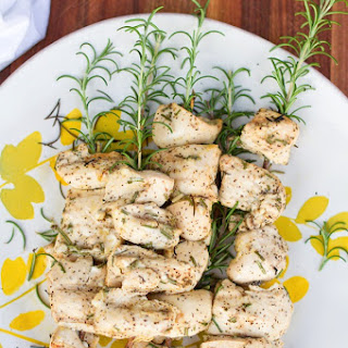 Grilled Rosemary Chicken Skewers