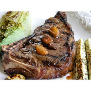 Grilled Garlic Steak with Garlic