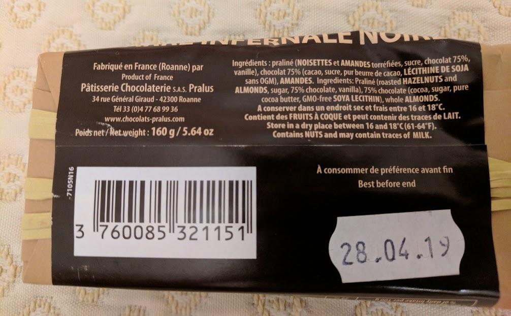 75% pralus almond praline back