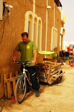 Photo: Ghislain in Kim's bike!! Nouakcott