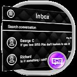 Black SMS Messenger Theme 5.9
