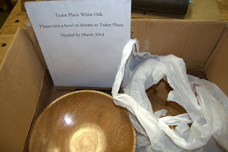 Photo: The collection box for the Tudor Place white oak donations.  Don't forget to bring yours in.