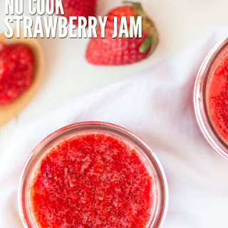 Easy No-cook Freezer Strawberry Jam.