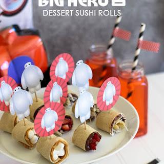 Big Hero 6 Dessert Sushi Rolls.