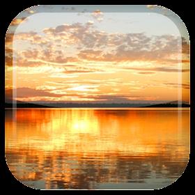 Закат Озеро живые обои
