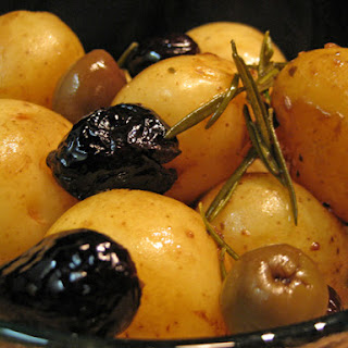 Braised New Potatoes with Rosemary and Olives