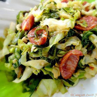 Asian Stir-Fried Cabbage & Country Smoked Sausage.